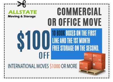 A coupon for 100$ for commercial or office moves.