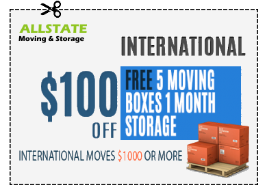 A coupon for 100$ for international moves.