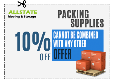 A coupon for 10% off of packing supplies.