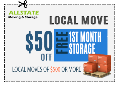 A coupon for 50$ for local moves.