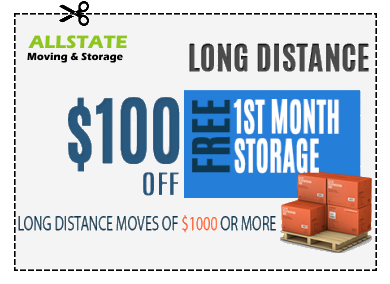 A coupon for 100$ for long-distance moves.