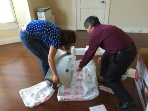 Unpacking tips are helpful, but not as having someone with you to help you unpack