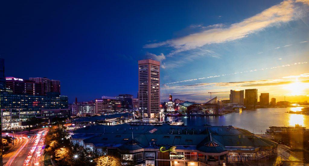 Storage Baltimore and Baltimore skyline.