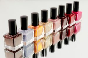 Nail polish in different colors - an item you should avoid when you pack liquids for moving