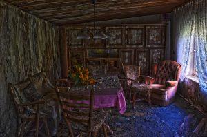 very moldy room