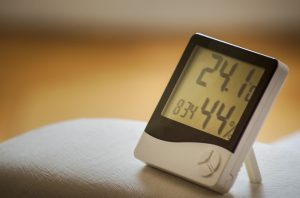 A humidity gauge is a great way of protecting your storage from condensation!