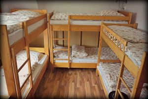 several bunk beds