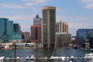 skyline view of baltimore