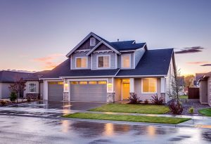 How to find an affordable family home like this nice blue one in the photo?