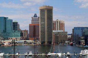 panoramic view of baltimore