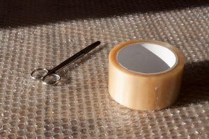bubble wrap and tape