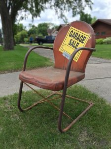 A garage sale is a great way for decluttering a family home
