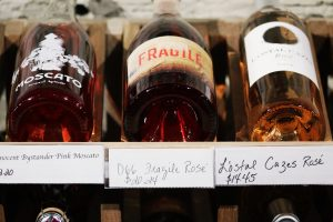 Fragile written on a glass bottle