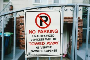 moving into a high-rise apartment means following no parking rules