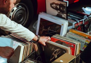 green tips for moving overseas -sell your vinyl records