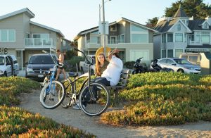 settle into your new neighborhood by riding a bike