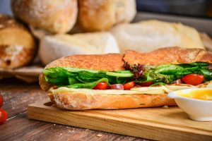 vegetable and meat sandwiches