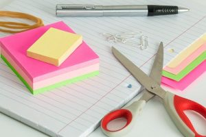 Office supplies you will use when packing and unpacking.