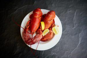 A lobster dinner