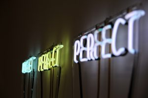 neon signs that spell perfect