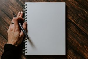 a blank piece of paper