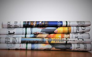 old newspapers you can use to pack glassware for storage
