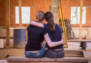 mom and daughter as an example on how to help your teenager adjust after moving