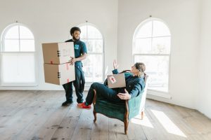 Movers helping