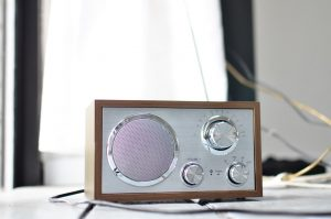 a radio on the table